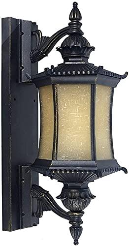 Praee Antigüedades al aire libre de aluminio Espesar la lámpara de pared del pasillo Luz Balcón apliques de luces montadas en Lectura Crear En las recámaras de noche granja rústica cubierta Puerta Pas