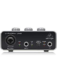 2x2 USB audio interface for recording microphones and instruments Audiophile 48 kHz resolution for professional audio quality.Maximum Sampling Rate: 48 kHz Compatible with popular recording software including Avid Pro Tools*, Ableton Live*, Steinberg...