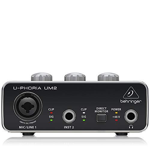 Behringer UM2 U-Phoria 2x2 USB 2.0 Audio Interface