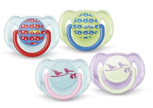 Philips AVENT SCF172/22 Tettarelle Ortodontiche, senza BPA, 6-18m, 2 Pezzi, Colori e Modelli Assortiti
