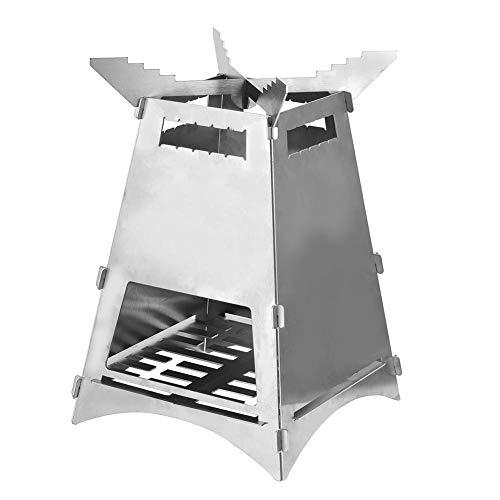 Campingkocher Tragbarer Edelstahl Klappofen Ultraleichter, Mini-Lagerfeuer-Grillheizung Mit Aufbewahrungstasche, Geeignet Für Garten- Und Außenanwendungen, Leicht Zu Bewegen Und Zu Tragen