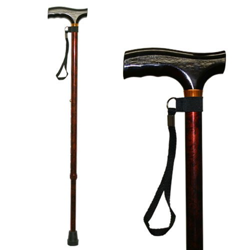 Homecraft Coloured Walking Sticks, Walnut Color, Walking Assisstant Device for Elderly, Handicapped, and Disabled Users, Adjustable Cane for Stability and Support, Lightweight Walking Stick