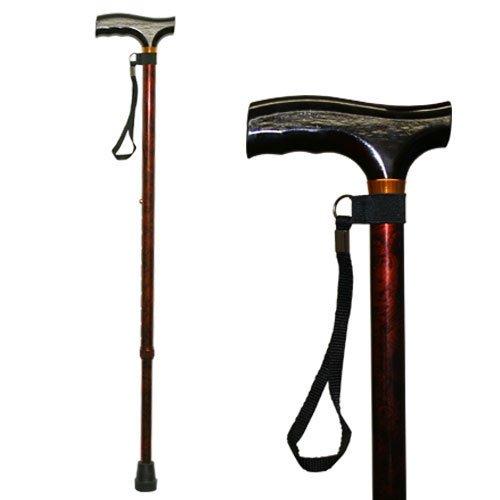 Homecraft Farbige Gehstöcke, Walnuss Farbe, Gehen Assisstant Gerät für ältere Menschen, Behinderte, und deaktivierte Benutzer, Einstellbarer Cane für Stabilität und Unterstützung, Leichte Spazierstock