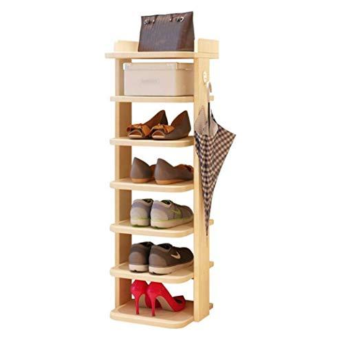 YIXIN2013SHOP Zapatero Zapatero de 7 Pisos Que Ahorra Espacio Rack de Almacenamiento for el hogar 101 × 8 × 30 cm (marrón) Estante para Zapatos (Color : Beige)