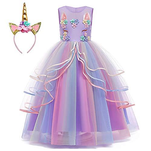 Princess Unicorn Dress Up for Little Girls Birthday Party Unicorn Dresses Costume