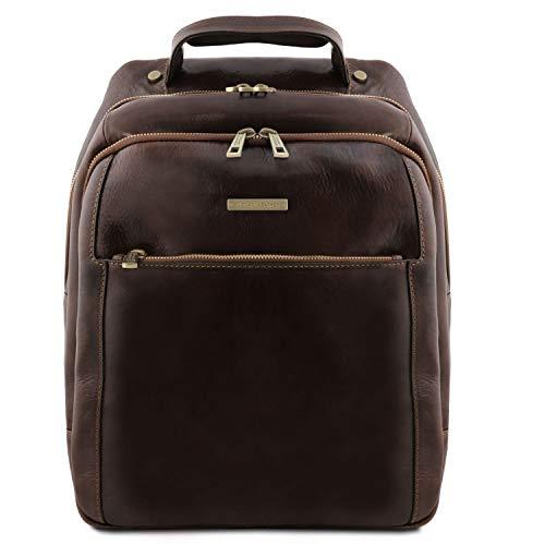 Tuscany Leather Phuket Zaino porta notebook in pelle 3 scomparti Testa di Moro