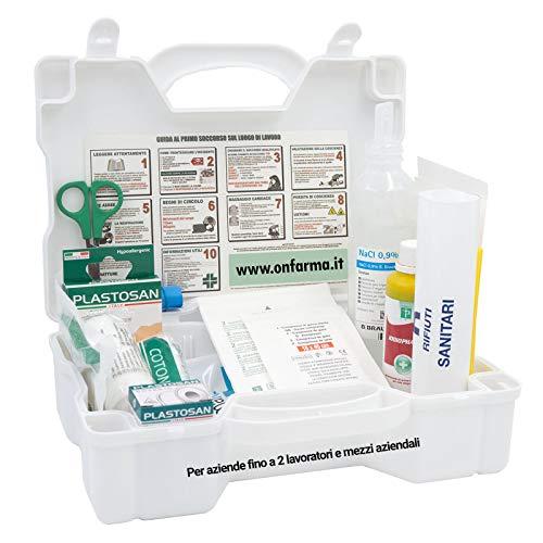 FARMA 3 BIANCA cassetta pronto soccorso conforme DM 388 allegato 2 per aziende fino a 2 lavoratori completa di cartello primo soccorso