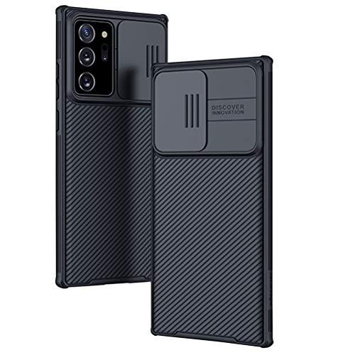 Ptny Funda para Samsung Galaxy Note 20 Ultra Protección de la cámara Carcasa con Cubierta Deslizante para Cámara Proteger Ultra-Delgado PC Prueba Polvo Antideslizante Anti-arañazos Estuche - Negro