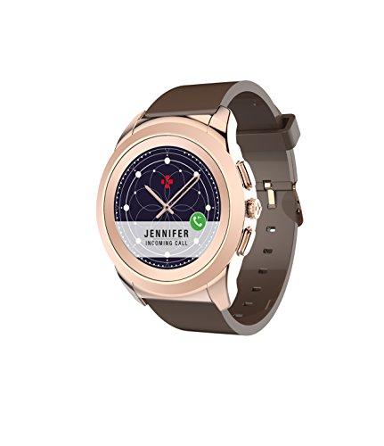 MyKronoz ZeTime Smartwatch Schwarz, Silber TFT 3,1 cm (1.22 Zoll) - Smartwatches (3,1 cm (1.22 Zoll), TFT, Touchscreen, 90 g, Schwarz, Silber)