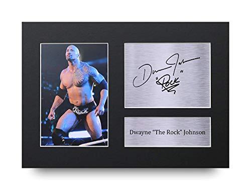 HWC Trading Dwayne Johnson A4 Ungerahmt Signiert Gedruckt Autogramme Bild Druck-Fotoanzeige Geschenk Für The Rock Filmfans
