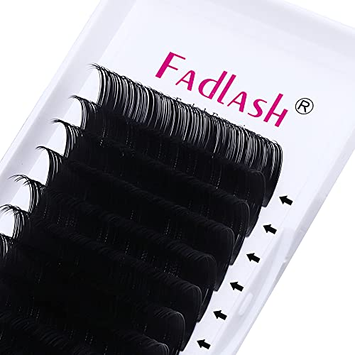 Eyelash Extension D Curl Mix 15-20mm FADLASH 0.10mm Silk Eyelash Extensions Thickness Classic Lash Extension Supplies (0.10-D, Mix 15-20mm)