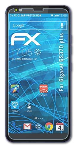 atFolix Schutzfolie kompatibel mit Gigaset GS370 Plus Folie, ultraklare FX Bildschirmschutzfolie (3X)