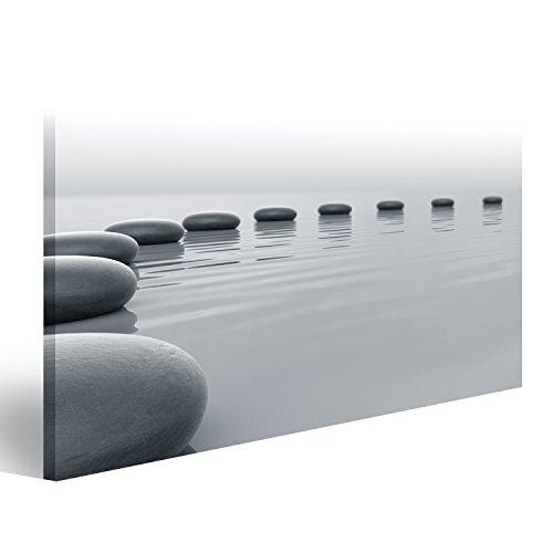 islandburner Bild Bilder auf Leinwand Steine im Wasser Poster, Leinwandbild, Wandbilder