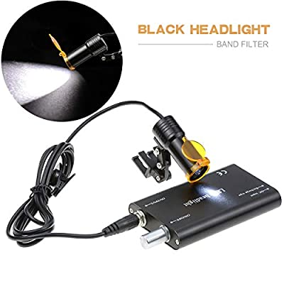 NSKI Dental 5W LED Headlight Lamp with Filter Insert Type Medical Surgical High Brightness Headlamp for Dental Loupes