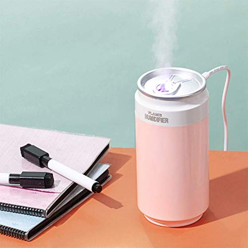 Umuizetn Small ortable Mini USB Humidifier, 2 PCS 260ml Ultrasonic Cool Mist Air Humidifier for Car Travel Office Desk Baby Bedroom