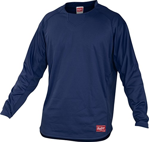 Rawlings Adult Dugout Fleece Pullover, Large, Navy