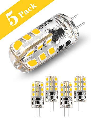 G4 LED-Lampe, 2 W / 20 W Halogen?quivalent / 200 Lumen/Tageslicht Weiß 6000 K, 12 V Nicht dimmbare Energiesparlampe für Bett, Badezimmerschrank, Wohn- und Esszimmer