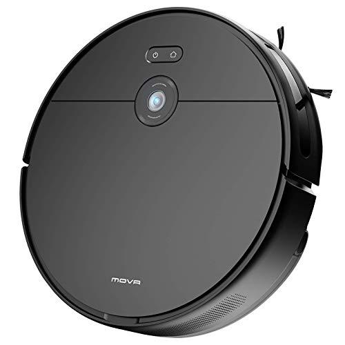 Mova Robot Aspirapolvere,2 in 1, Aspirazione 3000 Pa, Alexa, Wi-Fi, Lavapavimenti, Batteria 5200 mAh, Scopa Elettrica Che Aspira e Lava per peli di Animali, Pavimenti Duro, Moquette(Z500)