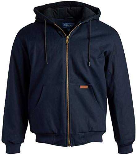 CHEROKEE-Mens-Workwear-Outerwear–Duck-Canvas-Heavyweight-Hooded-Jacket-Plus