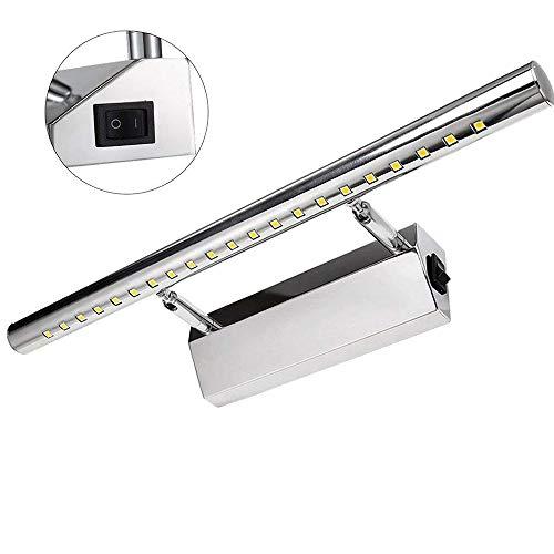 GreenSun LED 9W 39 LEDs 5050SMD 70cm Spiegelleuchte mit Schalter Spiegellampe Wandleuchte Schrankleuchte Edelstahl Badlampe Badleuchte Warmweiß 2700-3500K 700Lumen Winkel einstellbar 180°