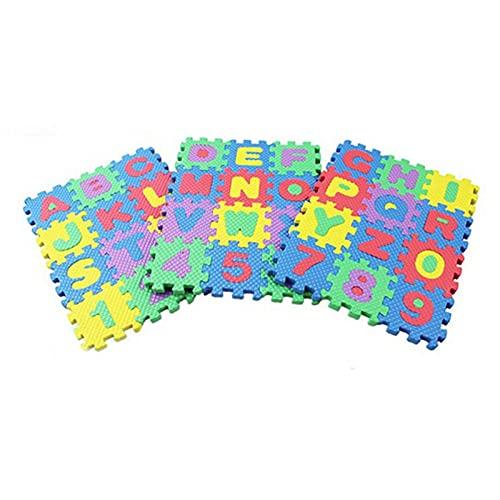 LNSGA 36pcs EVA Puzzle Baby Juguetes Espuma Alfabeto Números Play Mat Suelo Niños Alfombra Alfombra para niños Carta Paraíso Paraíso De Seguridad para Niños