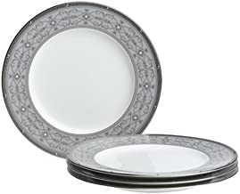 Noritake Rochelle Platinum 9-Inch Accent/Luncheon Plates, Set of 4