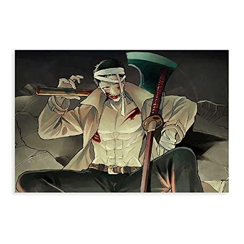 One Punch Man Zombieman Anime Leinwandposter Schlafzimmer Dekoration Sport Landschaft Büro Zimmer Dekor Geschenk UnRahmen: 30 × 45 cm
