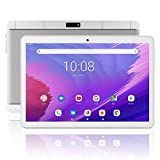 Meize 10インチAndroid 9.0タブレット 3G通話 WiFiモデル 1280x800 IPS HD画面 2GB RAM+ 32GB ROM デュアルSIMカード 2MP + 5MPデュアルカメラ クアッドコアプロセッサ(銀)