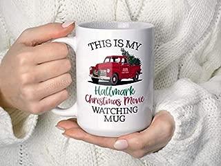 This Is my Hallmark Christmas MOVIE WATCHING Mug, Christmas Movie Watching Mug, Christmas Tree Truck Mug, Vintage, Christmas Coffee Mug