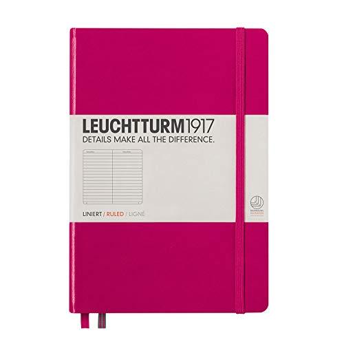 LEUCHTTURM1917 344807 Notizbuch Medium (A5), Hardcover, 251 nummerierte Seiten, Beere, liniert