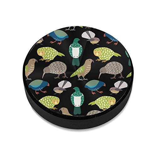 Universele Flat Stick Op Dashboard Magnetische Auto Mount Houder voor Mobiele Telefoons en Mini Tabletten met Snelle Swift-Snap Technologie - Leuke Nieuw-Zeelandse Vogels Wit
