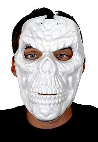 Knochen Masken FÜR Halloween = VON ILOVEFANCYDRESS®= DIE Maske IST WEIß WIE IN EINEM BERÜHMTEN AGENTEN Film UND LEUCHTE IM Dunkeln =PERFEKT FÜR Jede MASKIERUNG AN Fasching UND Karneval