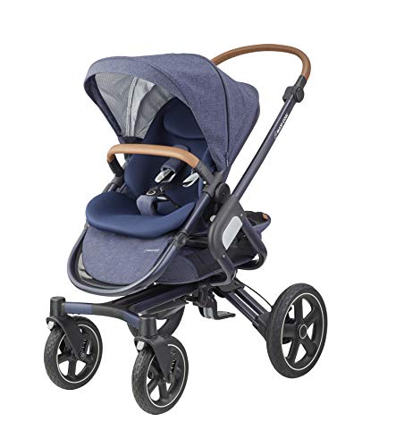 Maxi-Cosi Nova 4-Rad Kombi-Kinderwagen, großer, komfortabler Outdoor Kinderwagen mit Liegeposition, einfach und schnell zusammenklappbar, nutzbar ab ca. 6 Monate bis ca. 3,5 Jahre, sparkling blue