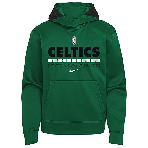 Nike NBA Boys Youth 8-20 Thermaflex Spotlight Performance Pullover Hoodie Sweatshirt (Boston Celtics, Youth Medium 10-12)