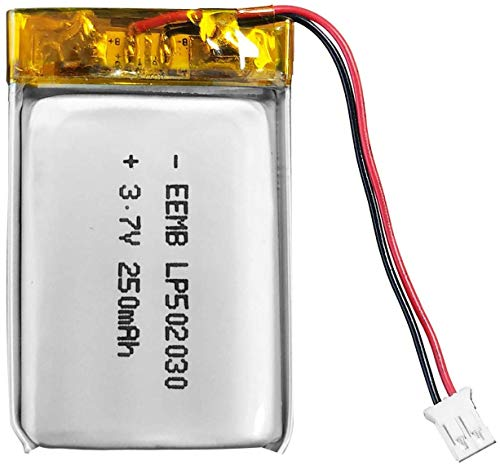 EEMB 3.7V Li-ion 502030 Battery 250mAh Lipo Battery Rechargeable Lithium Polymer ion Battery Pack with JST Connector
