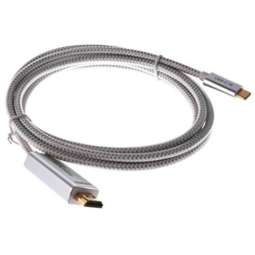 IPOTCH Adaptador 4K de 2 Metros / 6,6 Pies USB 3.1 Tipo-C a para de Aleación de Aluminio