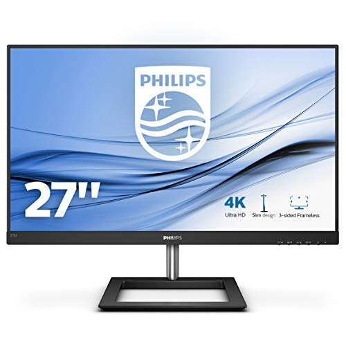 "Philips 278E1A/00 Monitor de 27"" Ultra HD 4K (3840 x 2160 Pixeles, IPS, 4 ms, Mega Infinity DCR, FlickerFree, HDMI, Displayport)"