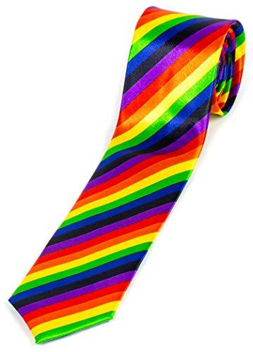 Evil Wear Motto-Krawatte Schlips Multicolor Regenbogen Farben