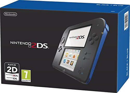 NEW! Nintendo 2DS Handheld Console Black Blue