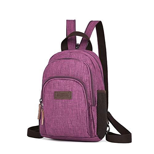 Backpack Waterproof Material Tide Shoulder Bag Multicolor Optional Practical Women's Leisure Backpack Student Bag Rucksack (Color : Jujube Red)
