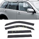 PLDDE 4 pcs For 03-08 Honda Pilot Front+Rear Sun/Rain Guard Outside Mount Window Visors