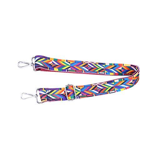 Fenical Verstellbare Handtasche Riemen Handtasche Nylon Ersatz Crossbody Taschen Strap (bunt)