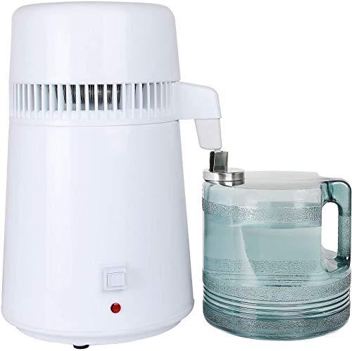 VEVOR 4L Wasserdestilliergerät Wasserfilter 750W Profi Wasserdestillierer Innenteil aus Edelstahl Tragbar Wasser Destilliergerät mit Sammelkanne