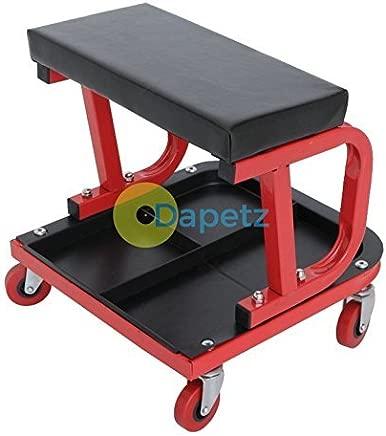 Dapetz Mechanics Padded Creeper Trolley Seat Car Van Garage Workshop Stool
