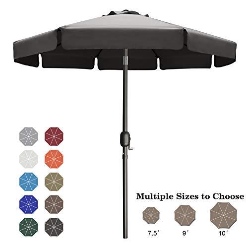 ABCCANOPY Sonnenschirm im Freien Wasserabweisende Bespannung -Gartenschirm Marktschirm,Dunkel grau