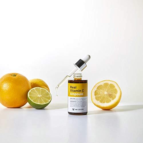 Mizon Real Vitamin C Ampoule, Pure Vitamin C 19% No Water Added