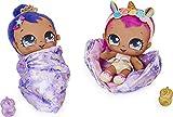 Magic Blanket Babies Surprise Plüsch-Babypuppe mit über 80 Geräuschen und Reaktionen, lila Decke (Stil kann variieren), Kinderspielzeug für Mädchen ab 4 Jahren