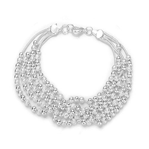 Joyas NYKKOLA elegante Moda Estilo Clásico–chapado en plata de ley 925Bead pulseras