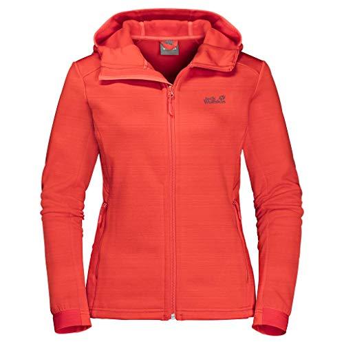 Jack Wolfskin Damen Morning Sky Jacket Women Sweatshirt Frau, orange Coral, XL