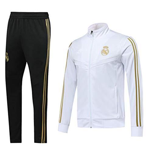 Football Jersey Reǎl Mǎdrid Formation Costume Manches Longues Sweat-Shirt Homme Survêtements Top + Pantalons Sports de Plein air Vie Quotidienne Automne et Hiver dou XL